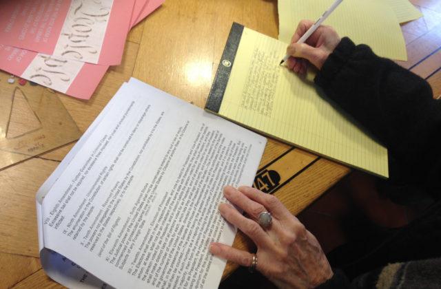 Handwriting the Universal Declaration of Human Rights