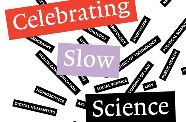 Celebrating Slow Science: Opening Academic Year 2019-2020