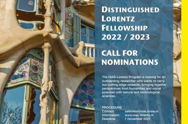 Open Now: Call for Distinguished Lorentz Fellowship 22/23 1